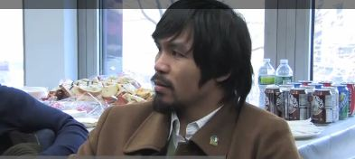 Manny Pacquiao Interview about fight with Mosley